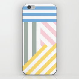 Summer stripes iPhone Skin
