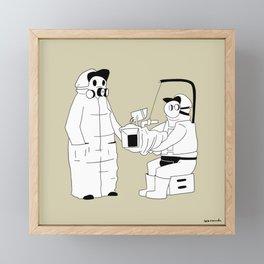Panic on-set Framed Mini Art Print