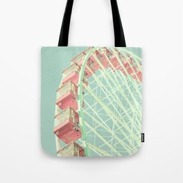 Pink nursery ferris wheel, Navy Pier Tote Bag