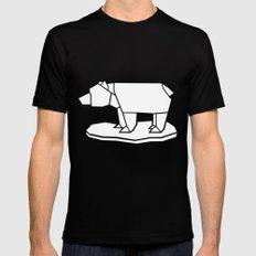 Origami Polar Bear Black MEDIUM Mens Fitted Tee