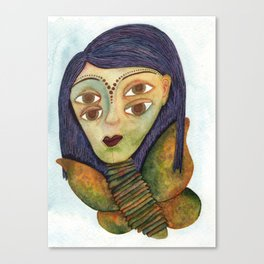 Story of the Moth Girl Canvas Print