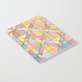 Triangle Pattern no.16 Pastels Notebook