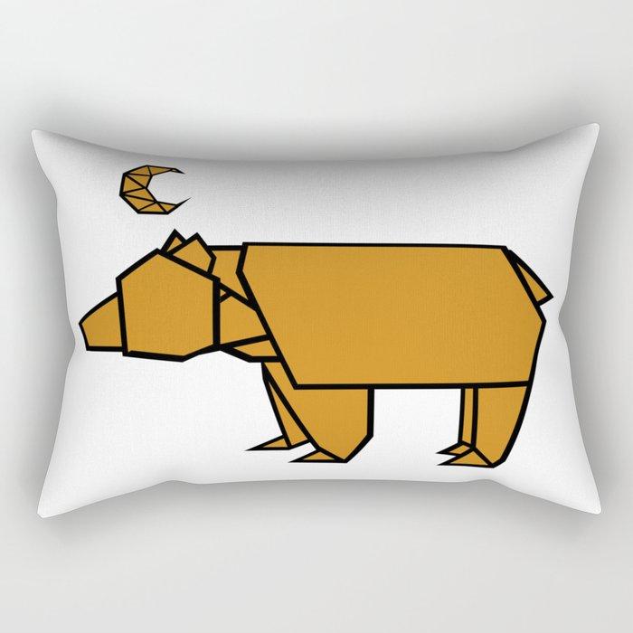 Bear Moon Rectangular Pillow