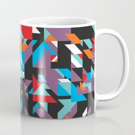 Colorful Texture Purple, Turquoise, Orange, White, Red and Black Coffee Mug