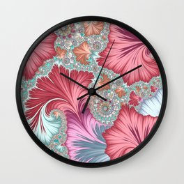 Whimsical fantasy leaves Wall Clock
