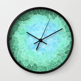 Abstract Sea Glass Wall Clock