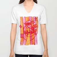 30 rock V-neck T-shirts featuring 30 by Pedro Ossa