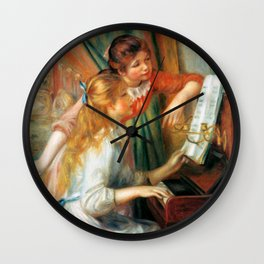 Auguste Renoir Young Girls at the Piano Wall Clock
