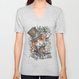MAD HATTER Unisex V-Neck