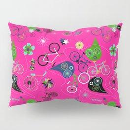 Cycledelic Pink Pillow Sham