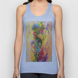 A bouquet of beautiful wildflowers Unisex Tank Top