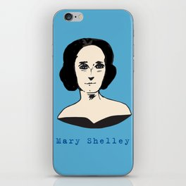 Mary Shelley, hand-drawn portrait iPhone Skin
