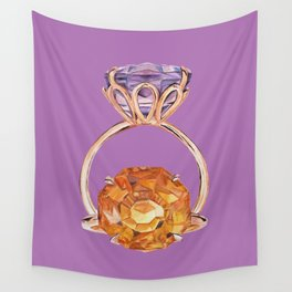 Circles on Purple Wall Tapestry