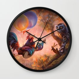 Morning Music - Early Bird And Night Owls Wall Clock