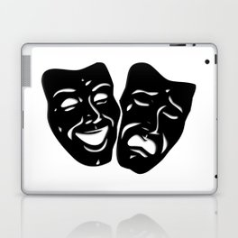 Theater Masks of Comedy and Tragedy Laptop & iPad Skin