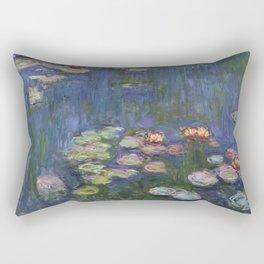 Water Lilies - Claude Monet Rectangular Pillow