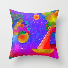 Voyage to the Stars Throw Pillow