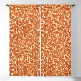 William Morris Oak Leaves, Rust Orange & Cream Blackout Curtain