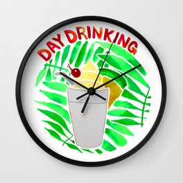Day Drinking Wall Clock