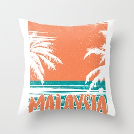 Malaysia Beauty View Throw Pillow