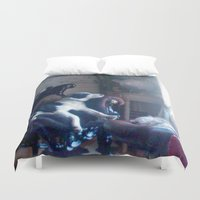 boss Duvet Covers featuring The boss by AstridJN