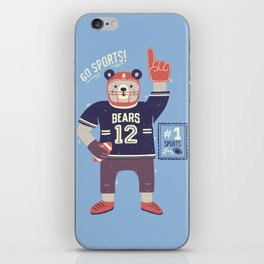 American Football Bear iPhone Skin
