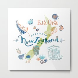 Drawings from New Zealand Metal Print