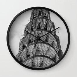 NYC Peaks Wall Clock