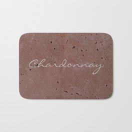 Chardonnay Wine Red Travertine - Rustic - Rustic Glam Bath Mat