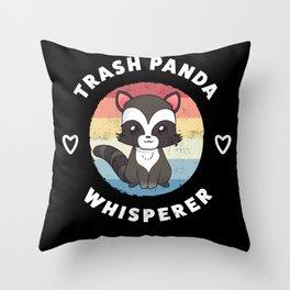 Trash Panda Whisperer Cute Raccoon Gift Throw Pillow