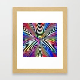 Holographic hypnotic pattern. Colorful iridescent effect. Framed Art Print