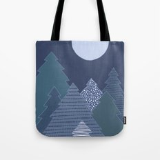 Magic Night Trees Tote Bag
