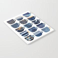 Pretty Blue Coffee Cups Notebook