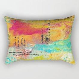 Mixed Media Abstract 1 Rectangular Pillow