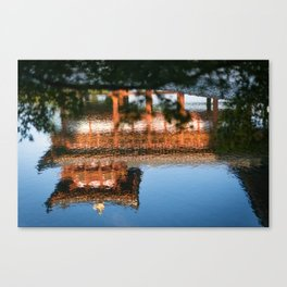 Temple reflected Canvas Print