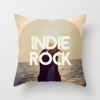 indie Throw Pillows featuring Indie Rock by El Rock Es Cultura