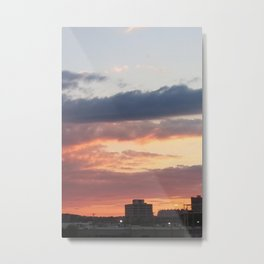 Failing Sunlight over New Haven, Reds and Blues Metal Print