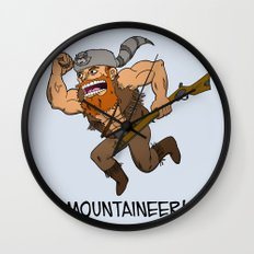 Mountaineer!  Wall Clock