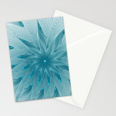 Blue Fantasy Star, Abstract Fractal Art Stationery Cards