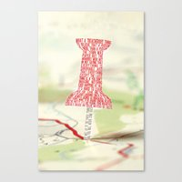 paper towns Canvas Prints featuring Paper Towns Typography by saycheese14