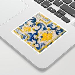 Portuguese azulejos, city of Ericeira Sticker