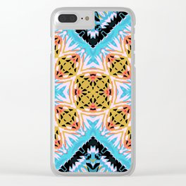 ethnic cross Clear iPhone Case