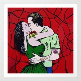 One more kiss babe Art Print