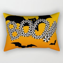 Halloween Flowers Bats BOO Design! Rectangular Pillow