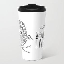 Weapons Of Mass Creation - Knitting Travel Mug