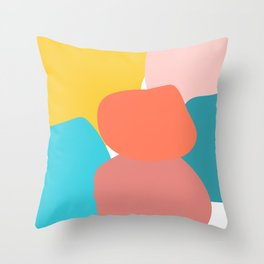 Abstract pastel collors Throw Pillow