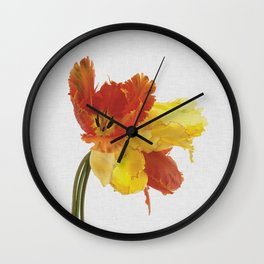 Tulip Still Life Wall Clock