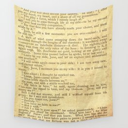 Jane Eyre, Mr. Rochester First Marriage Proposal by Charlotte Bronte Wall Tapestry