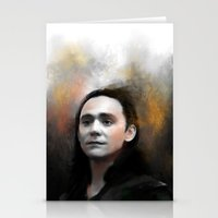 loki Stationery Cards featuring Loki by Kate Dunn