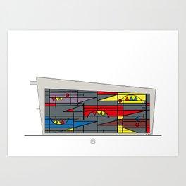 Edificio de comunicaciones UCV Art Print